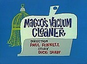 Magoo's Vacuum Cleaner Picture Into Cartoon