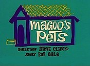 Magoo's Pets Picture Into Cartoon