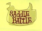 Saddle Battle Cartoon Picture