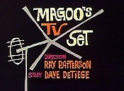 Magoo's TV Set Cartoon Picture