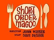 Short Order Magoo Picture Into Cartoon