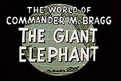 The Giant Elephant Cartoons Picture