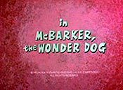 McBarker, The Wonder Dog The Cartoon Pictures