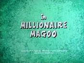 Millionaire Magoo Picture Of Cartoon