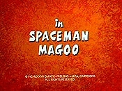 Spaceman Magoo Free Cartoon Picture
