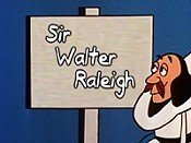 Sir Walter Raleigh Cartoon Character Picture