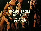 Escape From Ape City Free Cartoon Picture