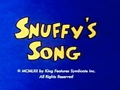 Snuffy's Song Picture Of Cartoon