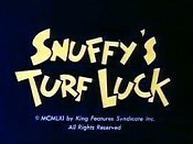 Snuffy's Turf Luck Cartoon Pictures