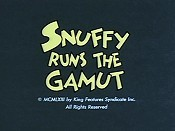 Snuffy Runs The Gamut Unknown Tag: 'pic_title'