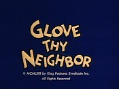 Glove Thy Neighbor Cartoon Pictures