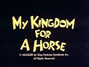 My Kingdom For A Horse Cartoon Picture