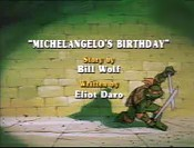 Michelangelo's Birthday Cartoon Picture