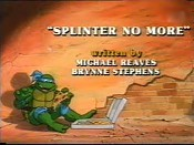 Splinter No More Picture Of Cartoon