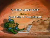 A Thing About Rats Cartoon Picture
