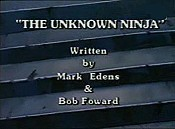 The Unknown Ninja Picture Into Cartoon