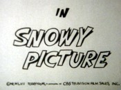Snowy Picture Cartoon Character Picture