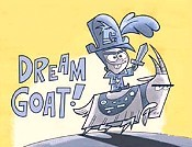 Dream Goat! Free Cartoon Picture