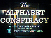 The Alphabet Conspiracy Cartoon Picture