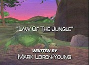 Law Of The Jungle Free Cartoon Picture