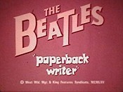 Paperback Writer Cartoon Picture