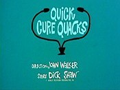 Quick Cure Quacks The Cartoon Pictures