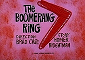The Boomerang Ring Cartoon Character Picture