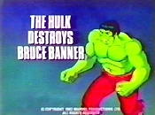 The Hulk Destroys Bruce Banner Cartoon Picture