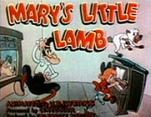 Mary's Little Lamb Cartoon Picture