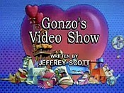 Gonzo's Video Show Free Cartoon Picture