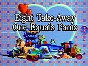 Eight Take-Away One Equals Panic Cartoon Character Picture