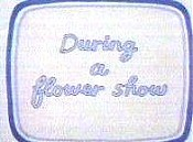 During A Flower Show Cartoon Character Picture
