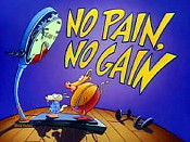No Pain, No Gain Cartoon Picture