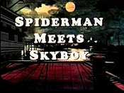Spiderman Meets Skyboy Cartoon Picture