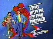 Spidey Meets The Girl From Tomorrow Cartoon Funny Pictures