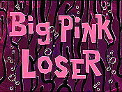 Big Pink Loser Cartoon Picture