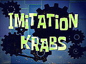 Imitation Krabs Cartoon Picture