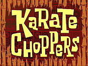 Karate Choppers Picture Into Cartoon