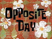 Opposite Day Cartoon Picture