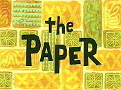 The Paper (No) The Cartoon Pictures