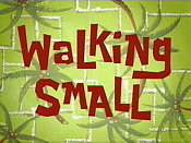Walking Small Picture Into Cartoon