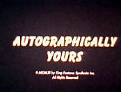 Autographically Yours Free Cartoon Picture