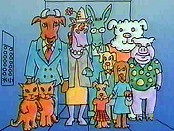 Animal Elevators (Add & Subtract) Picture Of Cartoon