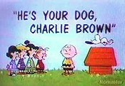 He's Your Dog, Charlie Brown Cartoon Picture