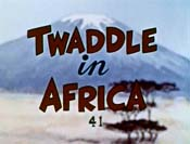 Twaddle In Africa Cartoon Picture