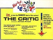 The Critic Cartoon Picture