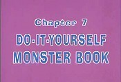 Do-It-Yourself Monster Book Free Cartoon Picture