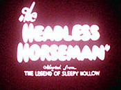 The Headless Horseman Cartoon Picture