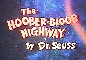 The Hoober-Bloob Highway Free Cartoon Picture