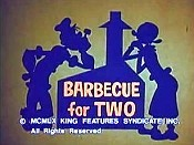 Barbecue For Two Cartoon Character Picture